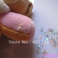 GD1-1 Free Shipping Wholesale 100g/bag Silver Scissors Glitter Nail art Glitter Pieces Nail art decoration
