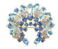 Han edition fashion full drill costly gem crystal field of fairy tale element wreath brooch