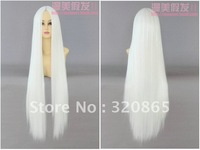 Diffuse beautiful wig 100 cm white in high temperature points wig cosplay wig