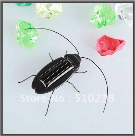 FREE SHIPPING Solar toys solar powered cockroach solar bugs toy(China (Mainland))
