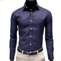 Holiday Sale Free Shipping 2013 Slim Mens Shirt Long Sleeve Stripe designer Mens Dress shirt
