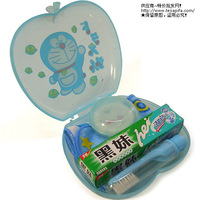 Free shipping 10 DORAEMON travel 5 piece set DORAEMON travel set