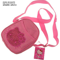 Free shipping 10 hello kitty messenger bag HELLO KITTY casual messenger bag 7901 gold tm