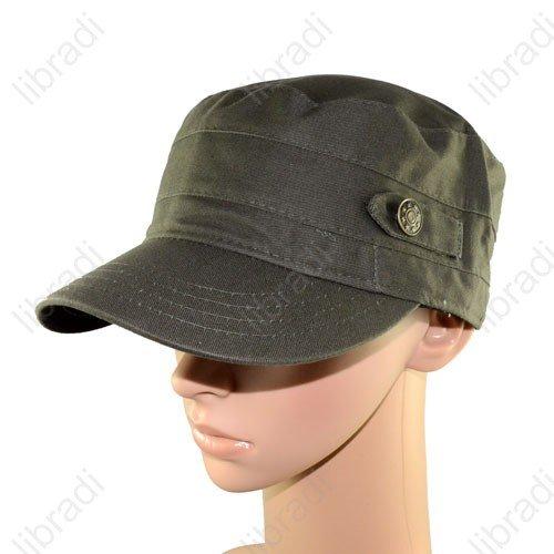 5pcs Adjustable VINTAGE ARMY Military Cadet Style Cap Man Ladies Hat -2-Green(China (Mainland))