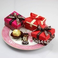Free shipping 100pcs/LOT wedding chocolate favor box by china air post parcel