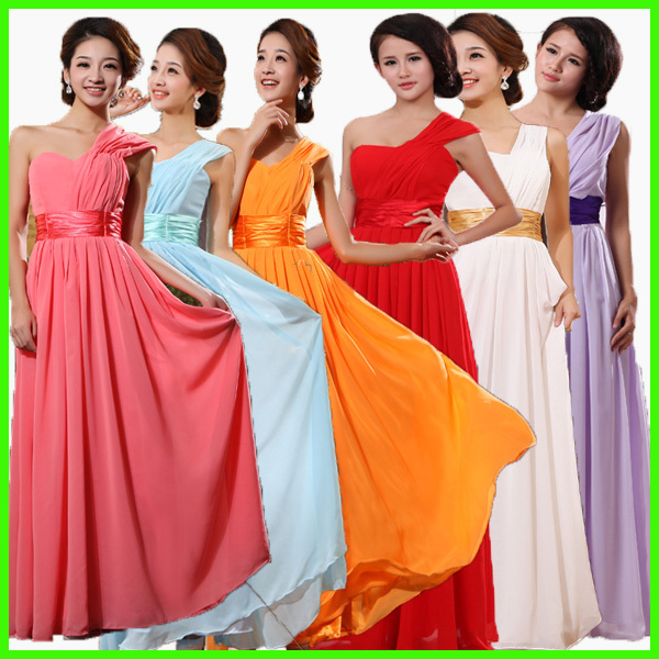 long evening dress 2013 new arrival formal dresses purple and red one shoulder oblique modest dresses party dresses gown(China (Mainland))