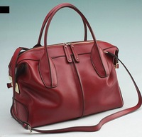 Shanai Genuine leather  women woman  briefcase handbag   messenger  shoulder  bag JX0099-185red