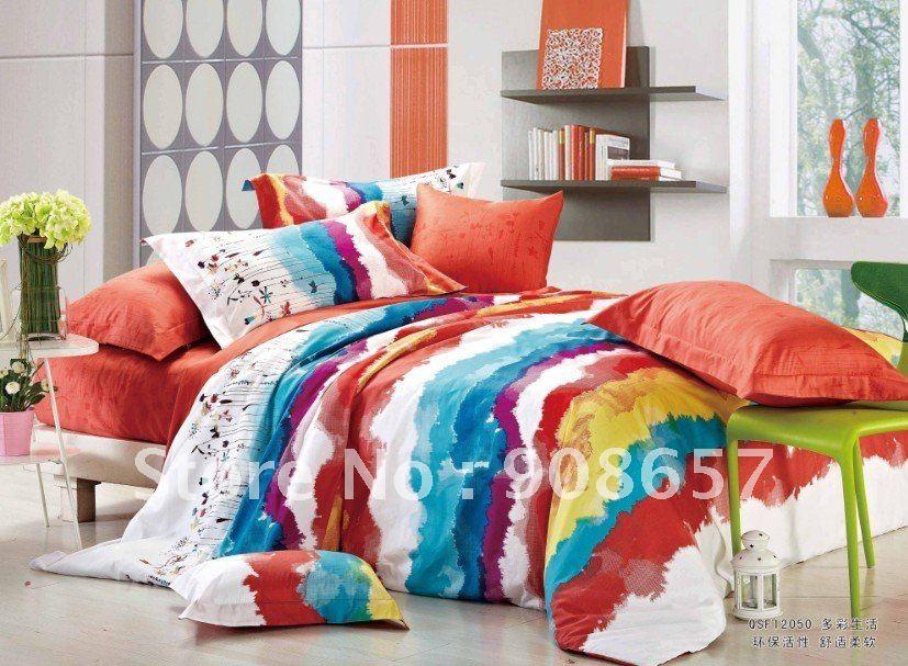 Orange girls bedding reviews online shopping reviews on - Red and orange comforter sets ...