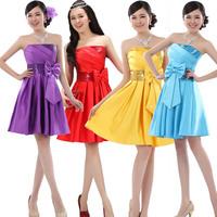 prom dresses 2014 new arrival wedding gowns Bride  strapless paillette  short design bridesmaid dress party dresses
