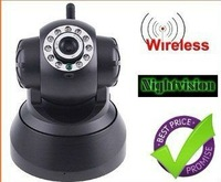 2012 NEW 2-Audio Nightvision IR Webcam Web CCTV Camera WIFI Wireless IP Camera black or white in retail box. white/ black color