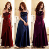 long formal dresses evening dress 2013 new arrival purple and red  plus size maxi party dress gowns china