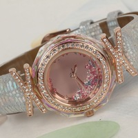 Xjp83 mrhea crystal ring exquisite female form fashion genuine leather watchband