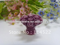 handcrafted decorative knobs ceramic knobs with a bunch of roses wholesale and retail shipping discount 200pcs/lot MG-5