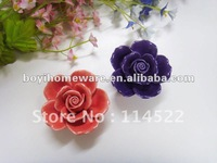 fancy flower knobs all handmade rose knob and handle wholesale and retail shipping discount 200pcs/lot MG-2