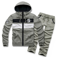 2012 spring and autumn male sweatshirt set male sports set casual sportswear lovers outerwear