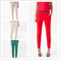 Free Shipping Fashion 2013 Women casual pants ,Candy Color  trousers women +Belt