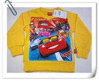 Children's clothing male autumn 100% cotton sweatshirt child cartoon outerwear 4 36