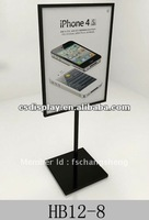 HB12-8 metal poster display/stand for Iphone products