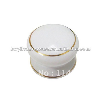 white ceramic knobs round circle ring knobs furniture accessories wholesale and retail shipping discount 100pcs/lot N-2