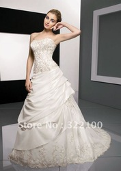 Free shipping LC2272 custom embroidery middle east wedding dress(China (Mainland))