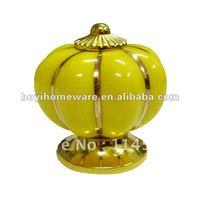 luxury gold ceramic cupboard knobs wardrobe handle kitchen knob drawer handle bed knobs wholesale & retail 100pcs/lot NG Y88-BGP