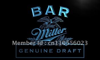 LA424-TM Bar Miller Beer Neon Light Sign  led sign