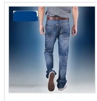 2012 autumn long trousers straight jeans male