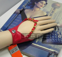 T fashion hip-hop punk fashion rock metal chain mini gloves