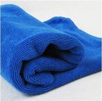 Small u car super absorbent cleaning wipe car dishclout blue 100% cotton car wash towels car towel