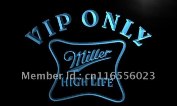 LA435-TM VIP Only Miller Hight Life Beer Neon Light Sign Advertising