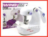 hand or battery 2 in 1 Cute Mini desk top Mini crafts Sewing Machine Sartorius (white) FREE SHIPPING