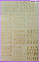 FREE SHIPPING LARGE SHEET GOLDEN WATER DECAL NAIL ART  NAIL TATTOOS STICKER  NAIL DRESSING
