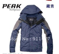 2012 Men outdoor 2in1 Two layers jacket men&#39;s camping hiking windproof waterproof Climbing ski coat 5 color