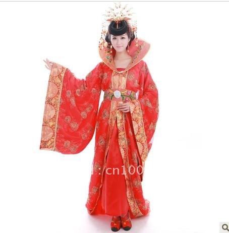 Concubine wu zetian clothing ancient costume trailing costumes