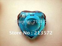 customized Crystal Diamond-heart Shaped Tea Light candle Holder clear