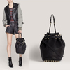 New arrvial 2012 rivet women's handbag,casual Drawstring Bucket Bag,fashion messenger bag shoulder bags