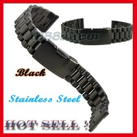 New Solid Black Stainless Steel Wrist Watch Band Strap 18mm 20mm Men's Bracelets SS9