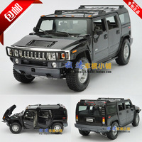 Humvees h2 suv black gift box alloy car model
