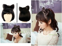Is black hair non-mainstream false contract wig bowknot han hair hair restore ancient ways the new for 2012