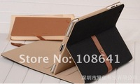 60pcs/lot hot selling genuine Leather Cases stand holder for ipad2 ipad3 with retail box