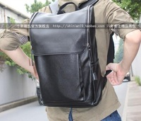 2014 korean version fashion casual leather backpack,three color top quality school bag for men,free shipping