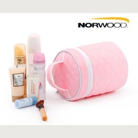 Free Shipping, 5pcs/Lot, Romantic Pink Dimond Plaid Cosmetic Bag, Large Storage Bag for Women and Lady