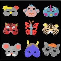 Free shipping masquerade party mask/halloween props/christmas decorations/kids costumes/party ornament/kids EVA mask/animal mask