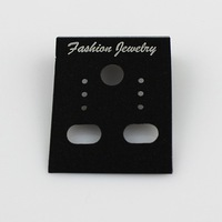 Free Shipping Wholesale White/Black Plastic Custom Earring Display Cards Jewelry Display Cards(JP-EC-W)