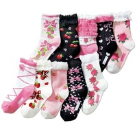 [Free Shipping] Newest Style lovely 100%cotton children sock , kid socks , babies' sock multicolor  @19
