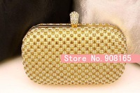 free shipping new arrival Ladies luxury full eternal ring czech rhinestone evening bag chain bag - 6colors