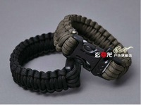 Free shipping outdoor survival bracelet the lifesaving bracelet seven core umbrella rope bracelet emergency 5 pecs/lot