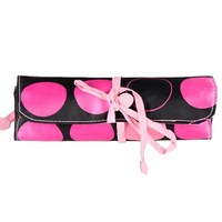 Free Shipping, 10pcs/Lot, Beautiful Pink Dot Cosmetic Bag,  Inside Waterproof Bag for Women and Lady