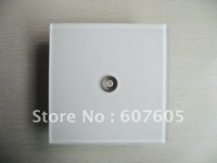 Free Shipping, 5 pcs a Lot TV sockets, Super-white Acrylic Panel and Fireproof ABS Plastic Box