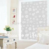 90*45cm Decorative Privacy Beautiful Flowers Transparent Glass Windows Film
